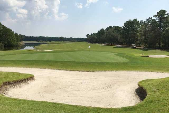 A view of hole #7 from Tiger's Eye Golf Links at Ocean Ridge Plantation.