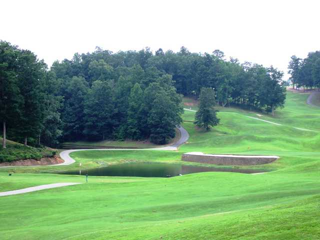 A view of a hole at Sugar Hill Golf Club.