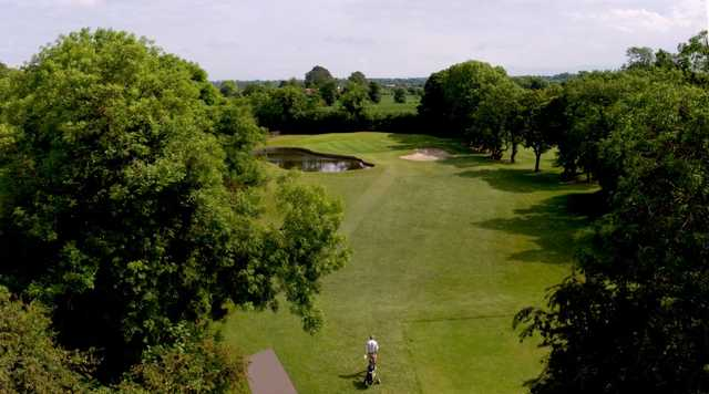 A view of the 3rd fairway at Orchard Course from Corrstown Golf Club.