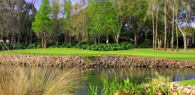 A view over the water a of a hole at Avila Golf & Country Club