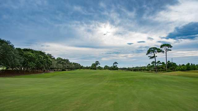 A view from fairway #2 at Kiva Dunes Golf Course.