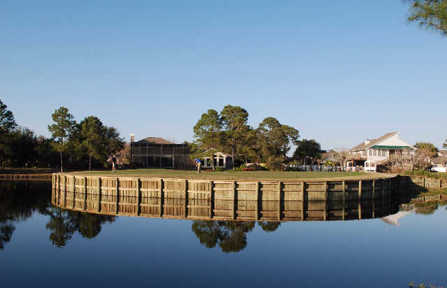 A view of the clubhouse at Tiger Point Golf and Country Club.