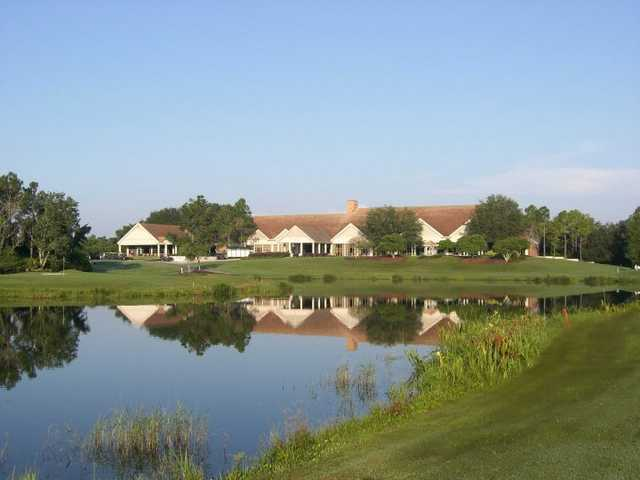 A view of the clubhouse at Hunter's Green Country Club