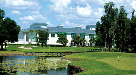 A view of the clubhouse at Tampa Palms Golf & Country Club