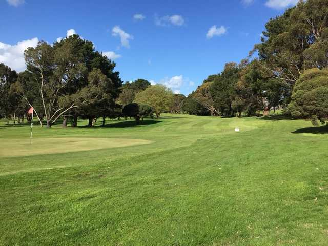View of a green at Camperdown Golf Club