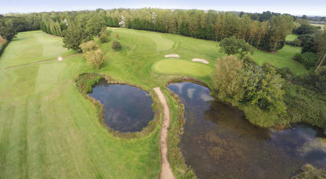 Aerial view from Bulbury Woods Golf Club