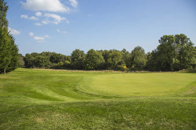 View of a green at Bulbury Woods Golf Club
