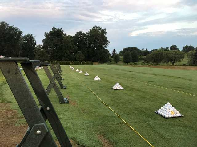 A view from the driving range at Zollner Golf Course