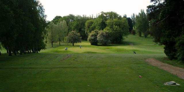 A view of the 8th tee at Knebworth Golf Club.