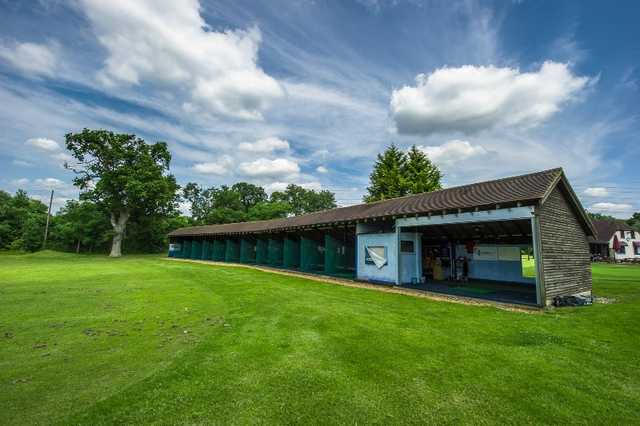 A view of the driving range at Oak Park Golf Club.