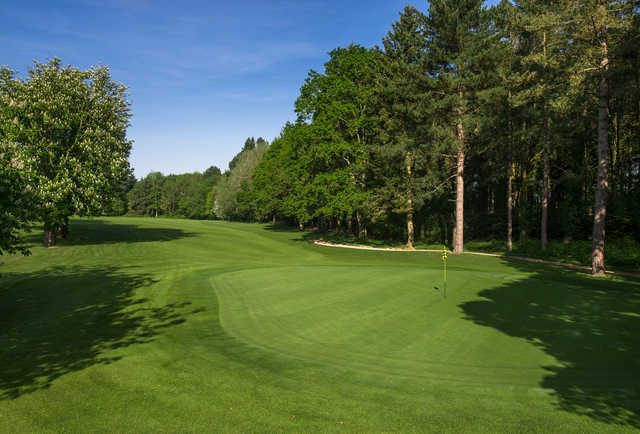 A view of the 11th green at Championship Course from Paultons Golf Centre.