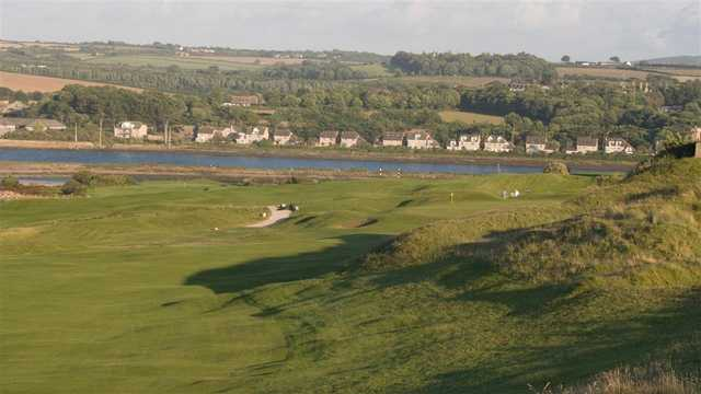 A view from the right side of a fairway at West Cornwall Golf Club.