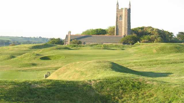 A view of a hole at West Cornwall Golf Club.