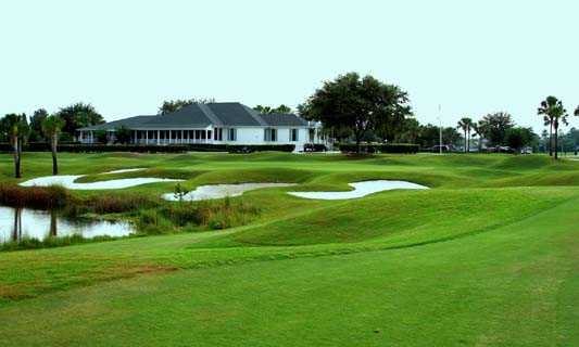 A view of the 9th hole at Plantation Palms Golf Club