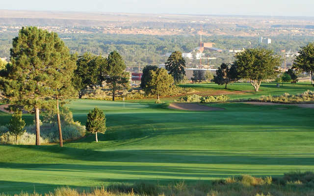 A sunny day view from Championship Golf Course At University of New Mexico.