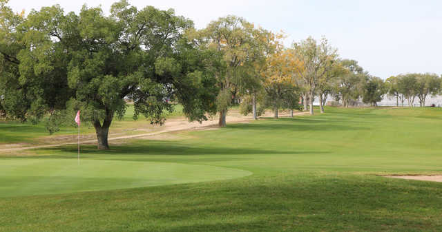 A view of a hole at University of New Mexico North Course.