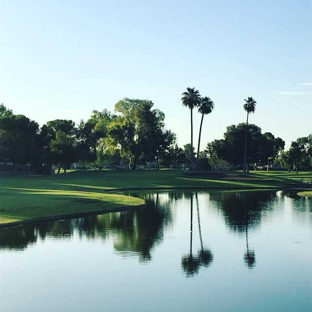 A view over the water from Dobson Ranch Golf Course.