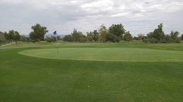A view of a hole from Tres Rios Golf Course at Estrella Mountain Park.