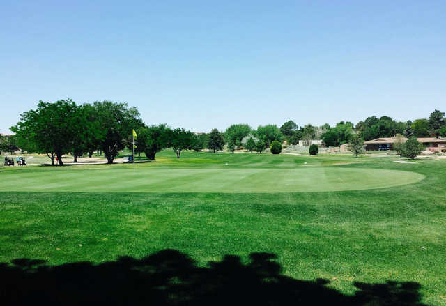 A morning day view of a hole at Paradise Hills Golf Course.