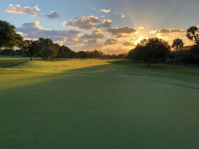 A view of the 14th fairway at Miami Shores Country Club.
