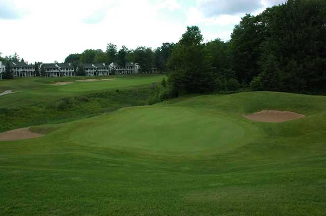 A view of a well protected green at The Chief Golf Course.