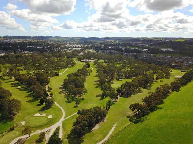 Aerial view from Aston Hills Golf Club at Mount Barker