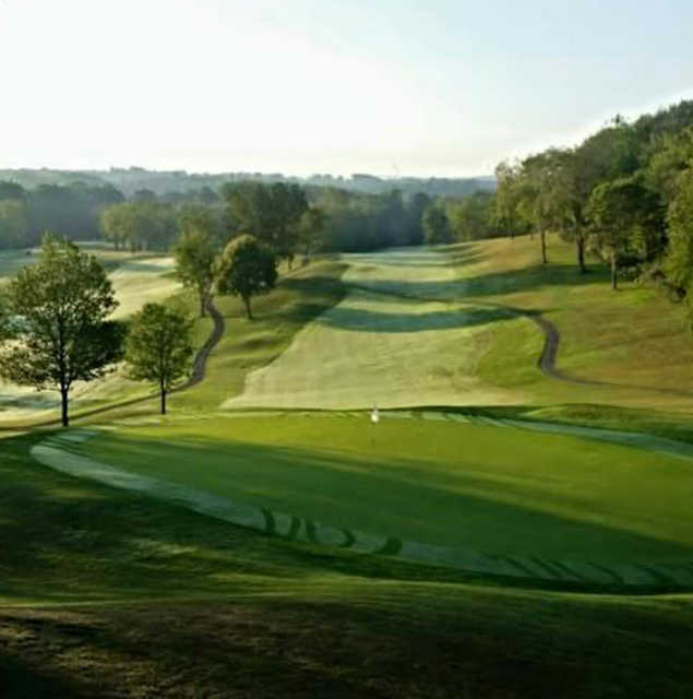 A view of a hole at Blackmoor Golf Club.