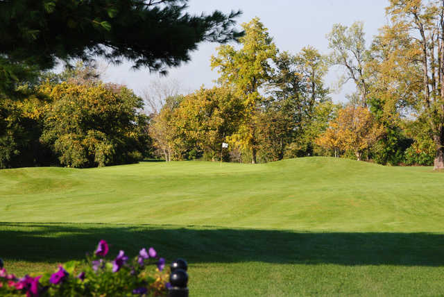 A view of the 3rd green at Oak Course from Oak Gables Golf Club.