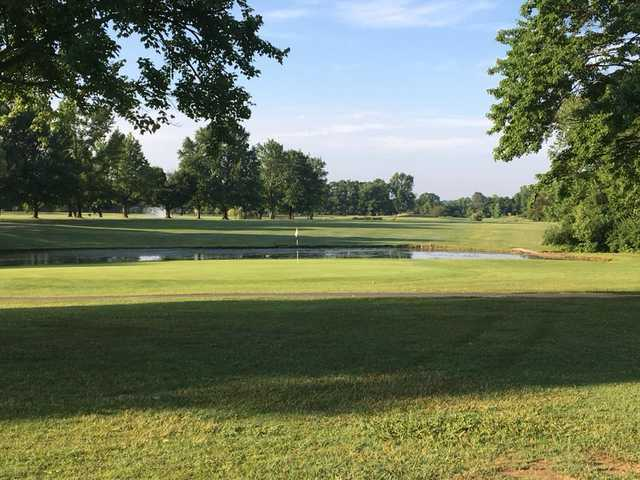 View of a green from Championship Course at Woodhaven Country Club