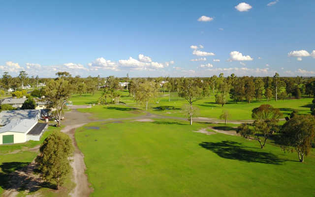 Aerial view from Dalby Golf Club