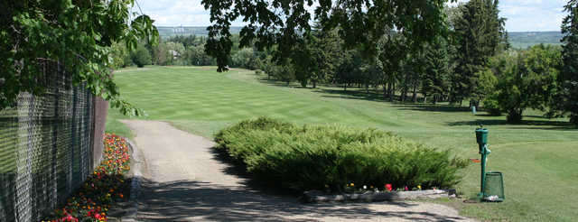 A view of a fairway at Lacombe Golf and Country Club.