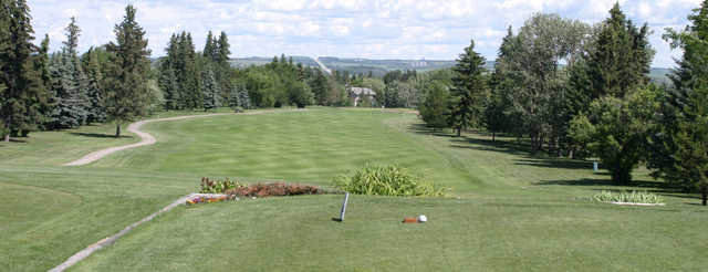 A view from a tee at Lacombe Golf and Country Club.