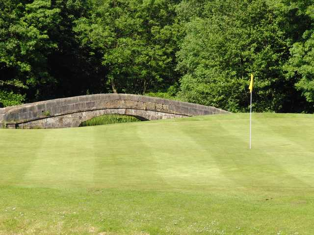 View of a green at Haigh Hall Golf Club