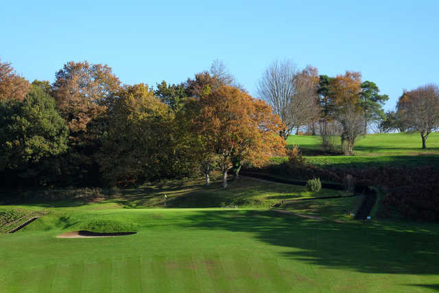 View of the 3rd green at Bramley Golf Club