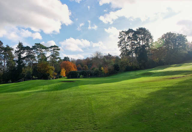 View of the 16th green at Bramley Golf Club