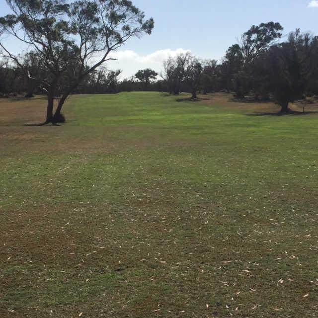View from a fairway at Bridport Golf Club