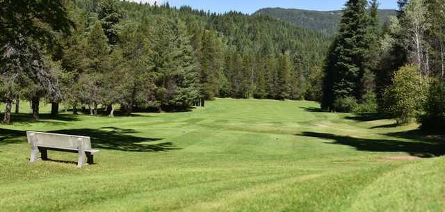 A view of tee #16 at Castlegar Golf Club.