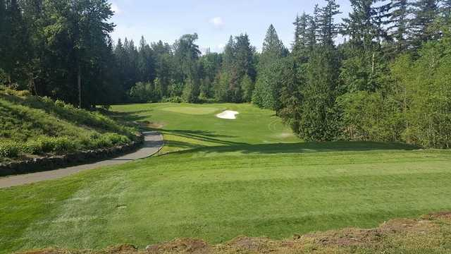 A view from tee #12 at Druids Glen Golf Club.