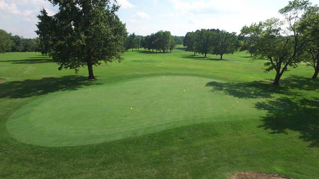 A view of the practice area at Franklin County Country Club.