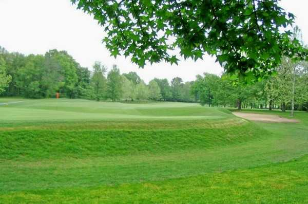 A view of a green at Franklin County Country Club.