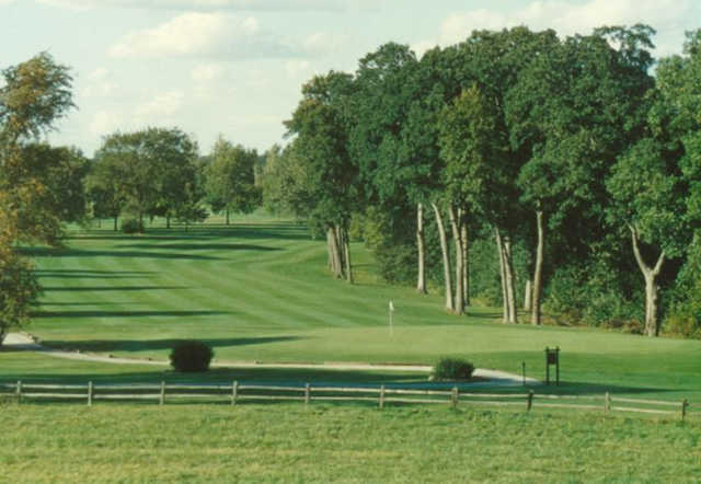 A view of the 14th green at Golfmohr Golf Club.