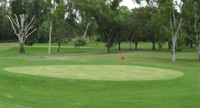 View of a green at Moree Golf Club