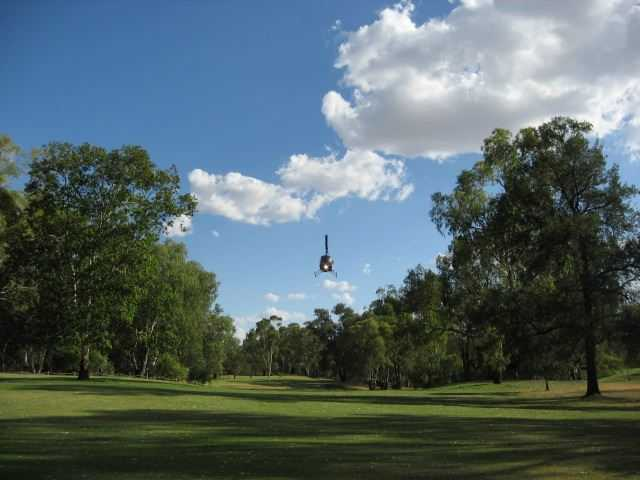 A view of the 18th fairway at Moree Golf Club.