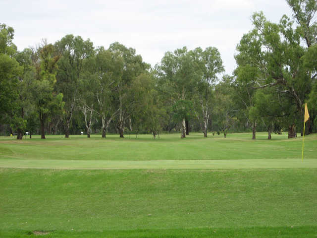 A view of a hole at Moree Golf Club.