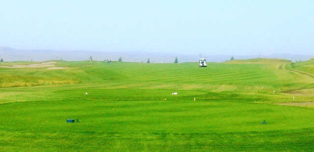 A view from a tee at The Bridges from Claresholm Golf Course.