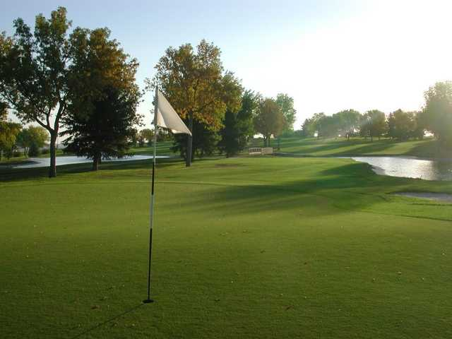 A view of a hole at Eagle Falls Golf Club.