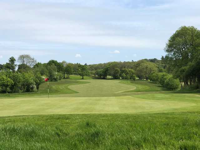 Looking back from the 2nd green at Petersfield Golf Club Championship Course