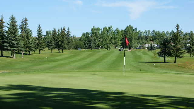 Looking back from a green at Cochrane Golf Club
