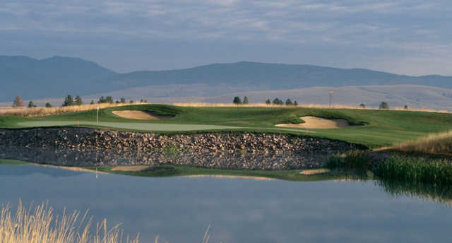 A view over the water of a hole at Ranch Club.