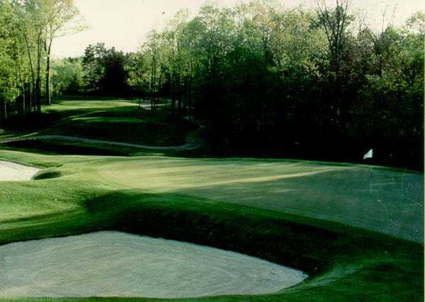 A view of green #9 at Forest Akers Golf Course - West Course